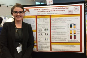 Taylor Praus presenting a poster at the National Conference on Undergraduate Research in 2015