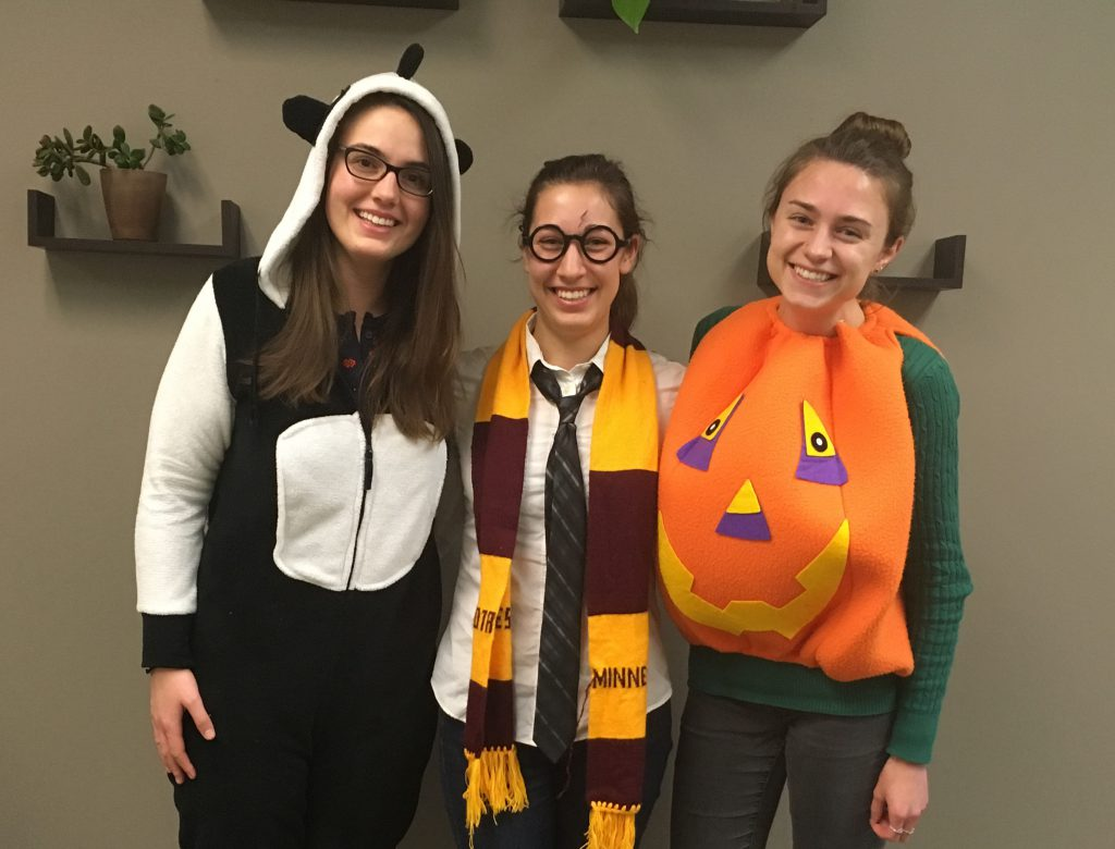 MNL lab staff dressed up for Halloween